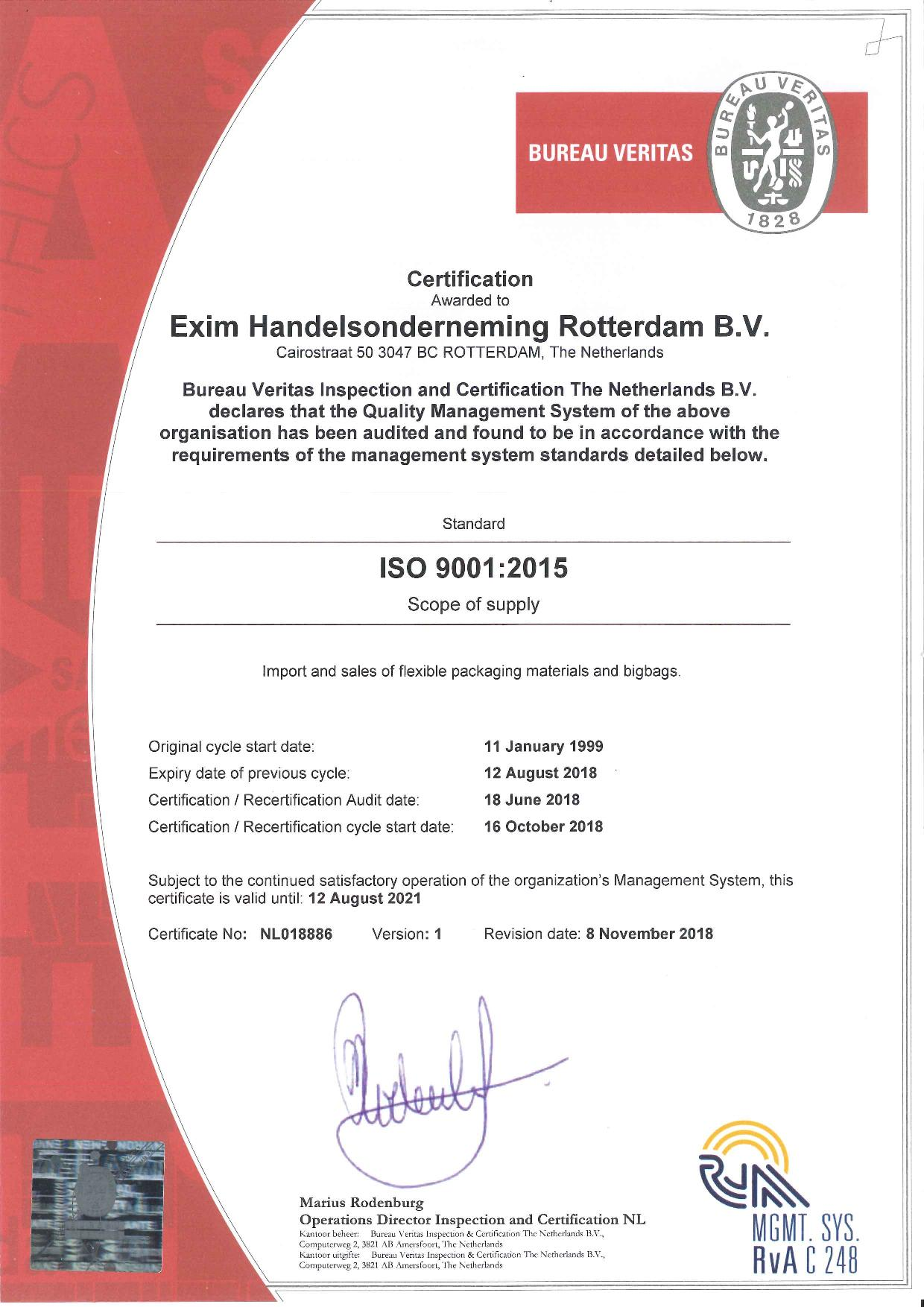 ISO 9001 2015 certificate ENG-page-001